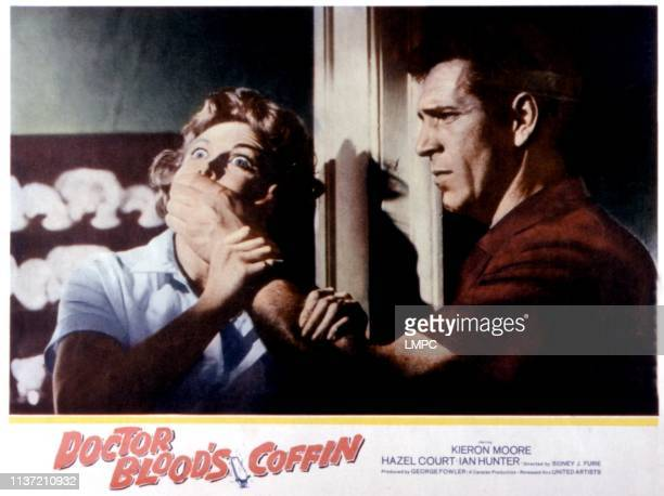 Dr Blood's Coffin lobbycard Hazel Court Kieron Moore 1961