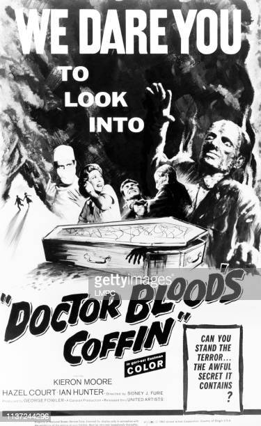 Dr Blood's Coffin poster US poster from left Kieron Moore Hazel Court 1961