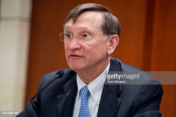 Dr Bob Kadlec Deputy Staff Director Senate Select Committee on Intelligence conducts a discussion in the Capitol Visitor Center April 26 on pandemic...