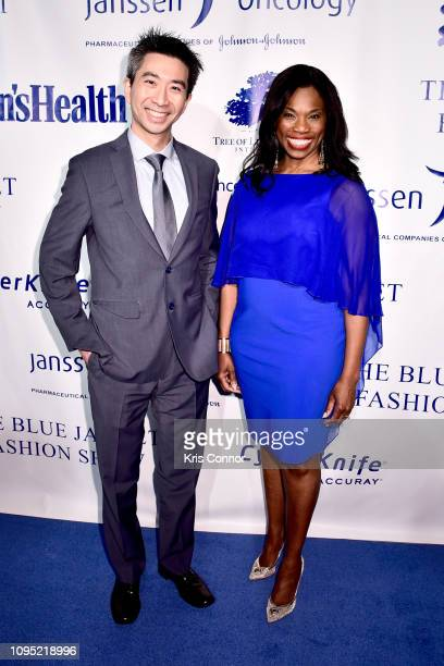 Dr Bobby Liaw and Reshema KempsPolanco attends the The 3rd Annual Blue Jacket Fashion Show Benefitting The Prostate Cancer Foundation at Pier 59...