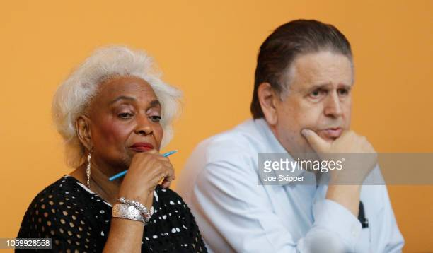 Dr. Brenda Snipes, Broward County Supervisor of Elections, left, looks on with an unidentified elections official during a canvassing board meeting...
