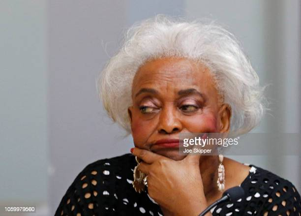 Dr. Brenda Snipes, Broward County Supervisor of Elections, listens during a canvassing board meeting on November 10, 2018 in Lauderhill, Florida....