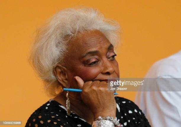 Dr. Brenda Snipes, Broward County Supervisor of Elections, looks on during a canvassing board meeting on November 10, 2018 in Lauderhill, Florida....