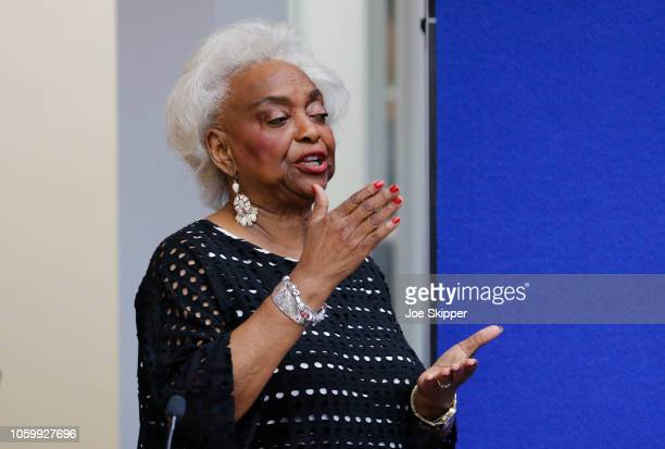 Dr. Brenda Snipes, Broward County Supervisor of Elections, makes a statement during a canvassing board meeting on November 10, 2018 in Lauderhill,...
