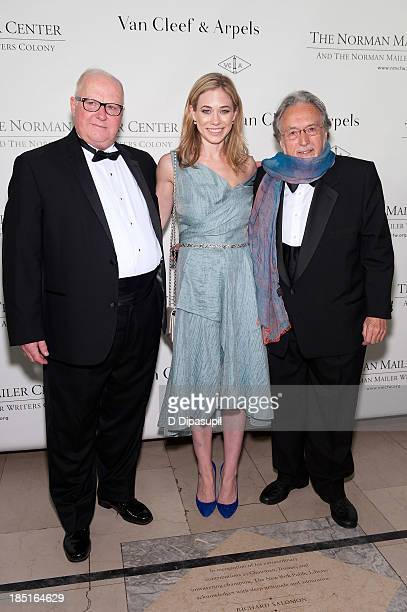 Dr Brent Hastings Elise Jordan and Lawrence Schiller attend the 2013 Norman Mailer Center gala at the New York Public Library on October 17 2013 in...