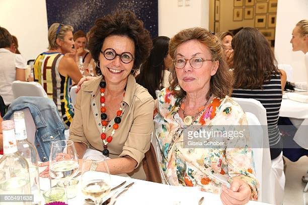 Dr Brigitte Ulsess und Anja Soerge during the Ladies Art Lunch at Galerie Vogdt on September 13 2016 in Munich Germany