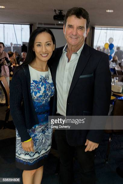 S Dr Bruce Hensel and finacee attends The Thalians Presidents Club Anchors Away Brunch at the California Yacht Club on June 5 2016 in Marina del Rey...