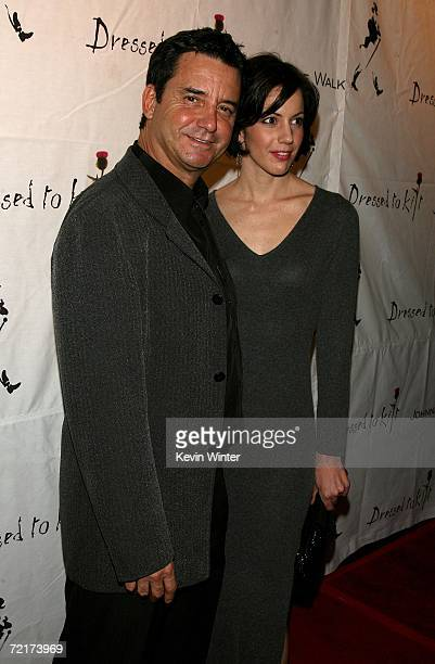 Dr Bruce Hensel and guest arrives at the Johnnie Walker Dressed to Kilt 2006 fashion show during the Mercedes Benz Fashion Week at Smashbox Studios...