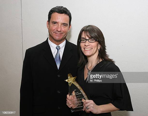 Dr Bruce Hensel and Jaclyn Levin during Literacy In Media Awards at The Beverly Hilton Hotel in Beverly Hills CA United States