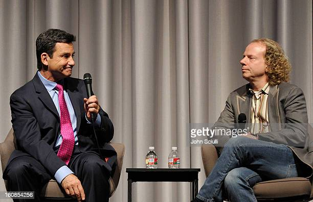 Dr Bruce Hensel and Producer Bruce Cohen discuss removing the stigma of mental illness at Museum Of Tolerance on February 6 2013 in Los Angeles...