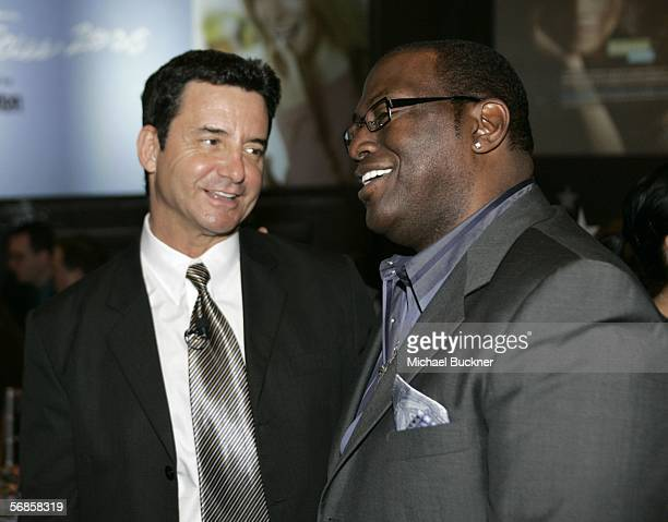 Dr Bruce Hensel and producer Randy Jackson attend at the Entertainment Industry Foundation Luncheon at the Four Seasons Hotel on February 15 2006 in...