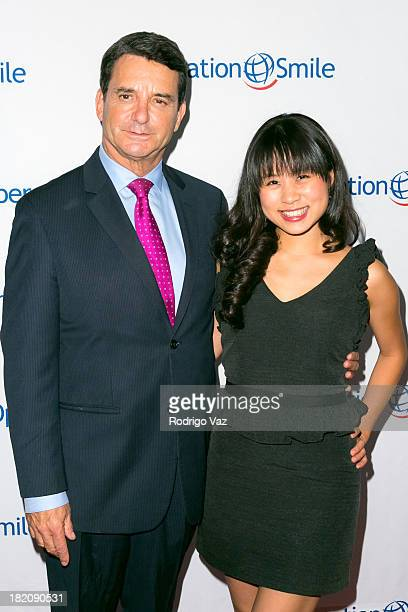 Dr Bruce Hensel and Sarah Ho arrive at Operation Smile's 2013 Smile Gala at Regent Beverly Wilshire Hotel on September 27 2013 in Beverly Hills...