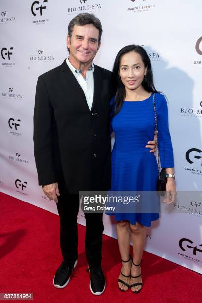 Dr Bruce Hensel former Chief Health Medical and Science Editor/Correspondent for NBC4 and his wife Selena Hensel attend the Official Launch Party Of...