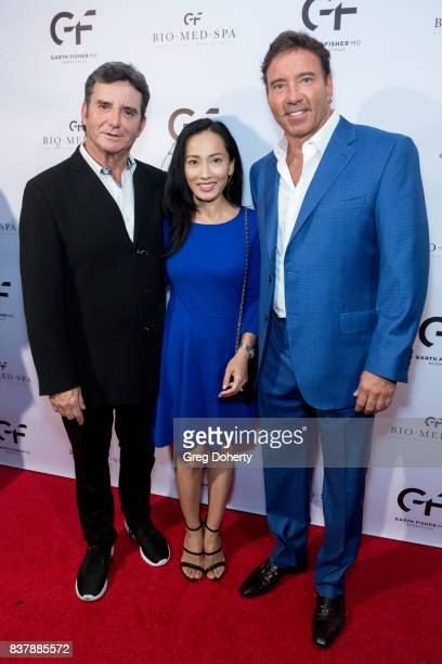 Dr Bruce Hensel former Chief Health Medical and Science Editor/Correspondent for NBC4 his wife Selena Hensel and Dr Garth Fisher attend the Official...