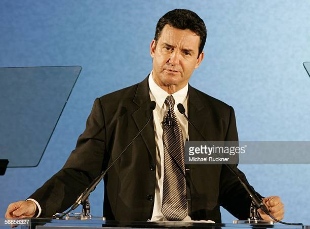 Dr Bruce Hensel speaks at the Entertainment Industry Foundation Luncheon at the Four Seasons Hotel on February 15 2006 in Los Angeles California