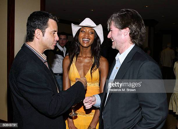 Dr Bruce Hensel Tanisha Harper and Dr Frank Ryan during the Share Inc 51st Annual Boomtown Party at the Century Plaza Hotel Spa on May 15 2004 in...