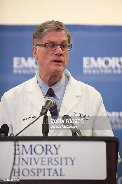 Dr Bruce Ribner an epidemiologist and professor in the School of Medicine's Infectious Diseases Division confirms that Emory University Hospital will...