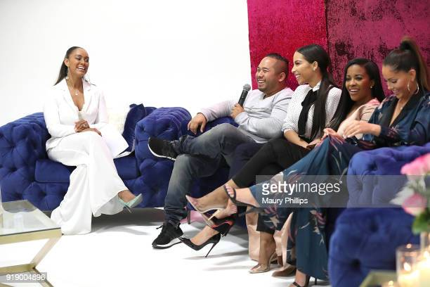 Dr Bryant Daniel Lopez Jessica Killings Jessica Rich and Olivia Pierson speak onstage during the 2018 Beauty The Beats Celebrity Party and Panel...