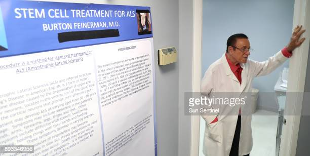 Dr Burton Feinerman in his Wellington office Feinerman is trained pediatrician who has been involved with stem cell therapies at several Florida...