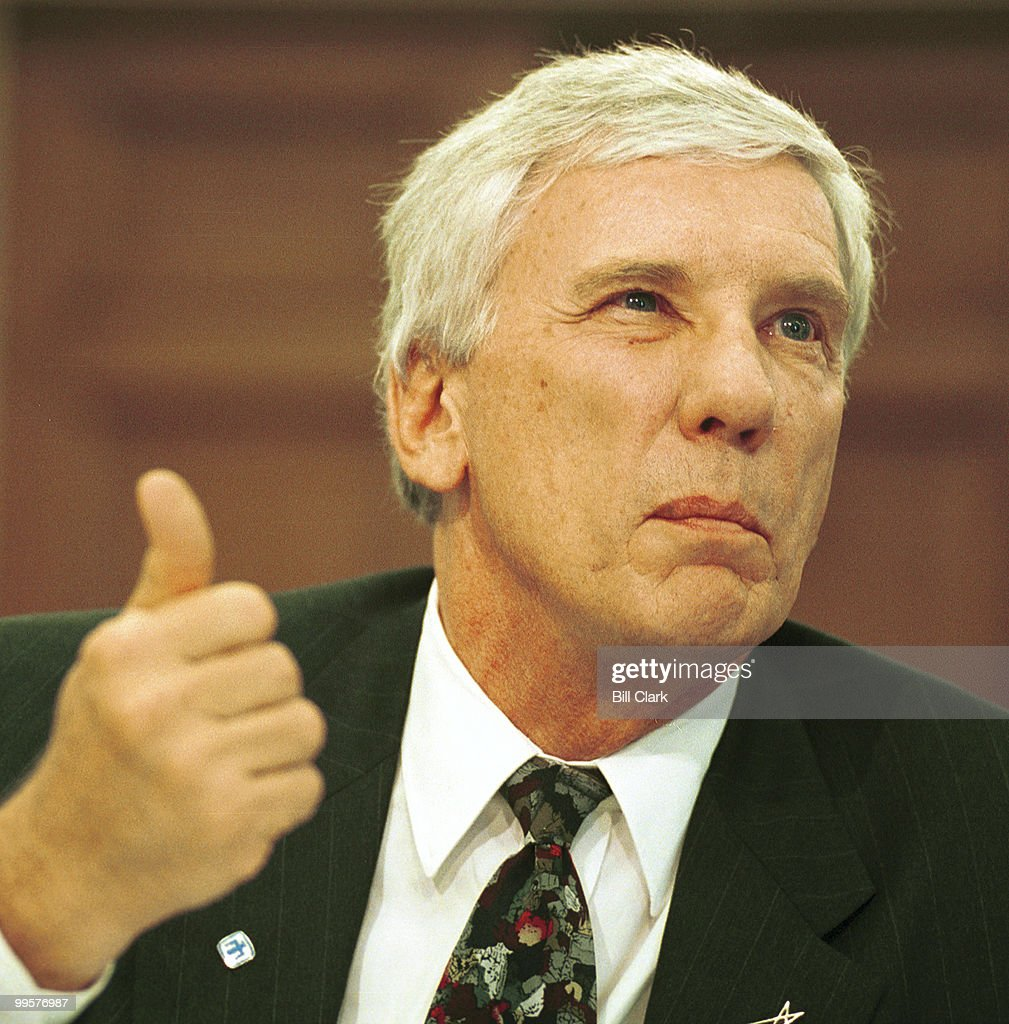 Dr. C. Paul Robinson, President and Labortories Director of the Sandia National Laboratories, speaks during a Subcommittee On Oversight and Investigations hearing in the House of Representatives Tuesday July 11, 2000.