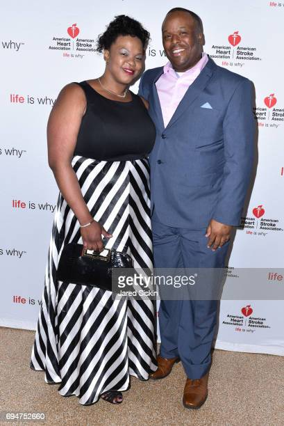 Dr Camile Gooden and Jerome Bost attend the 21st Annual Hamptons Heart Ball at Southampton Arts Center on June 10 2017 in Southampton New York