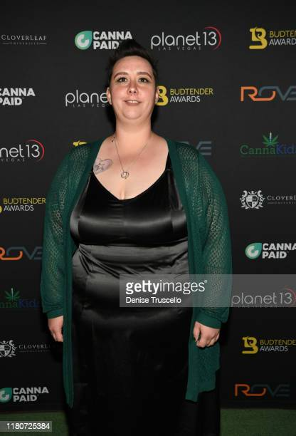 Dr Cannabis Award finalist Shaylene Weaver from Giving Tree DispensaryPhoenix AZ arrives at the First Budtender Awards at Light Nightclub at Mandalay...