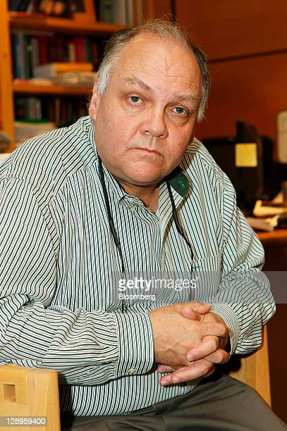 Dr Carl Schmidt Wayne County chief medical examiner sits for a portrait at his office in Detroit Michigan US on Wednesday Sept 7 2011 The bodies line...