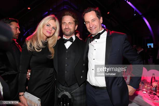 Dr. Carolin Copeland, Gerard Butler, Sebastian Copeland during the Cinema For Peace Gala at Westhafen Event & Convention Center on February 23, 2019...