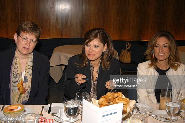 Dr Caroline A Kovac Maria Bartiromo and Suzy Welch attend The Week hosts Women in Power Views from the Top Sponsored by UBS at Four Seasons on July...