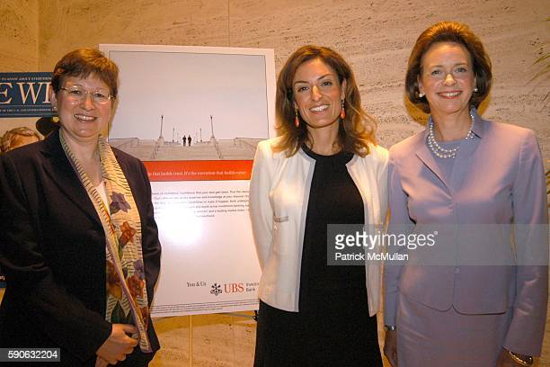 Dr Caroline A Kovac Suzy Welch and Catherine Kinney attend The Week hosts Women in Power Views from the Top Sponsored by UBS at Four Seasons on July...