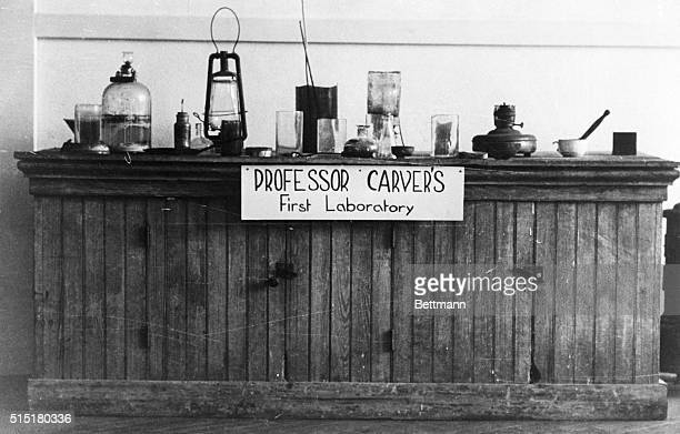 Dr Carver's first laboratory on exhibit in the George Washington Carver Museum
