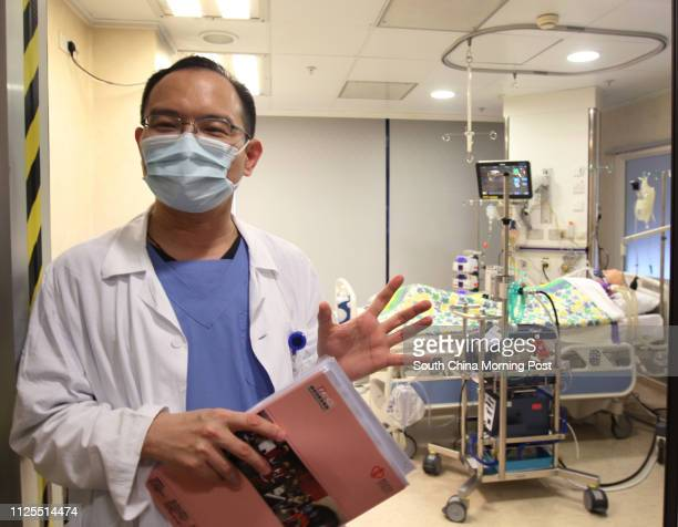 Dr Chan Waiming chief of adult intensive care unit at the Queen Mary Hospital explains the use of extracorporeal membrane oxygenation in the ward...