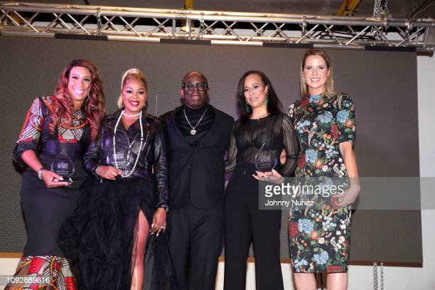 Dr Chanita Foster Princess BantonLofters Miguel Wilson and Collette V Smith appear onstage during the Super Bowl LIII Power Of Influence Awards at...