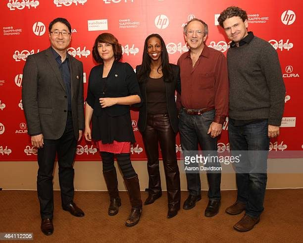Dr Charles J Limb Director Jill Soloway Sarah Lewis President of the Open Society Foundations Christopher Stone and Dave Eggers attends the...