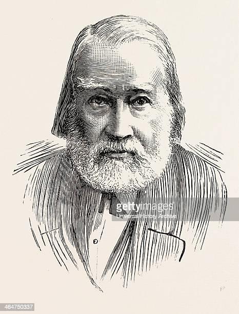Dr Charles Mackay Engraving 1890 UK Britain British United Kingdom Great Britain Europe European