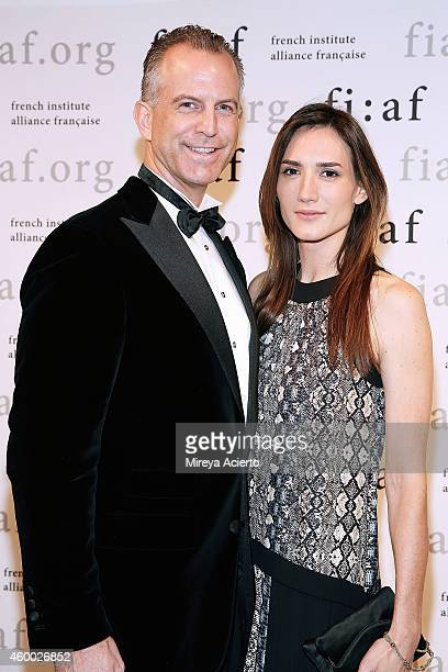 Dr Charles Manger and Socialite Zani Gugelmann attend The 2014 Trophee Des Arts Gala at The Plaza Hotel on December 5 2014 in New York City