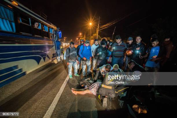 Dr Chiu tends to a badly injured woman who was a victim of a hit and run driver She died shortly after on the scene Guatemala City has one of highest...