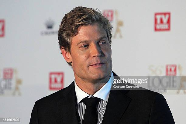 Dr Chris Brown hosts the 65th Logie Awards nominations event held at Club 23 Crown Towers on March 31 2014 in Melbourne Australia