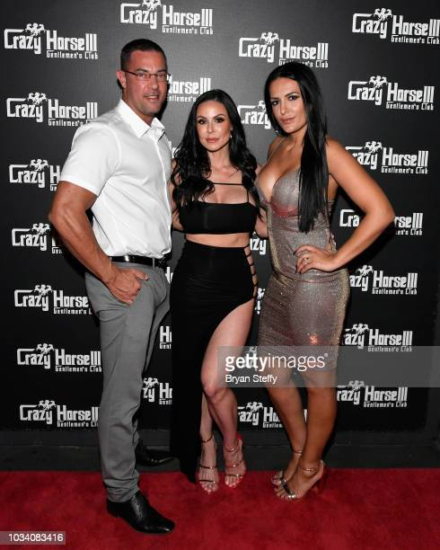 Dr Chris Quinn adult film actress Kendra Lust and Jenna Quinn attend Lust's birthday party celebration at Crazy Horse 3 Gentlemen's Club on September...