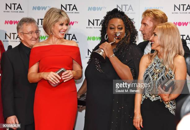Dr Chris Steele Ruth Langsford Alison Hammond Nik Speakman and Eva Speakman winners of the Daytime award for 'This Morning' pose in the press room at...