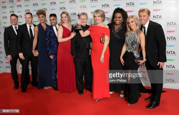 Dr Chris Steele Ruth Langsford and Alison Hammond and presenters with their award for Best Daytime for 'This Morning' during the National Television...