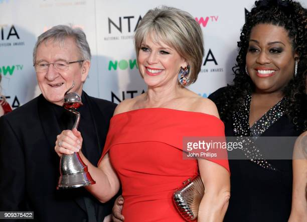 Dr Chris Steele Ruth Langsford and Alison Hammond with their award Best Daytime for 'This Morning' during the National Television Awards 2018 at the...