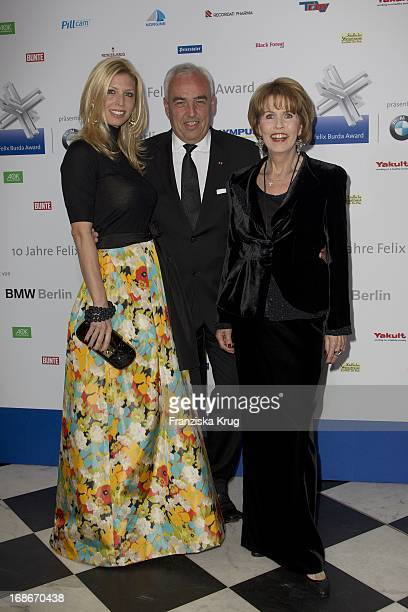 Dr Christa Maar Hans Reiner Schroeder and wife Katerina at the 10th Anniversary Of The Felix Burda Award at Hotel Adlon in Berlin