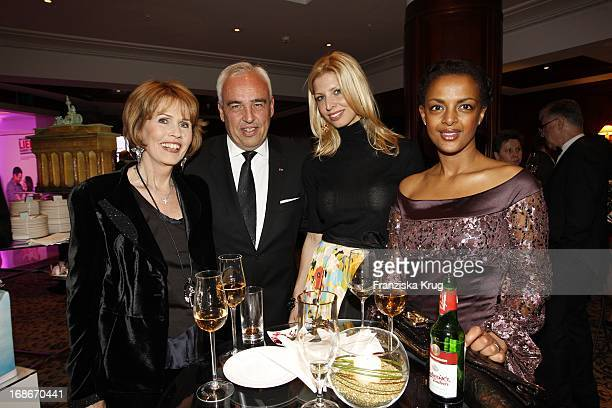 Dr Christa Maar Verona Pooth Hans Reiner Schroeder with his wife Katerina and Dennenesch Zoudé At 10 Anniversary Of The Felix Burda Award Hotel Adlon...