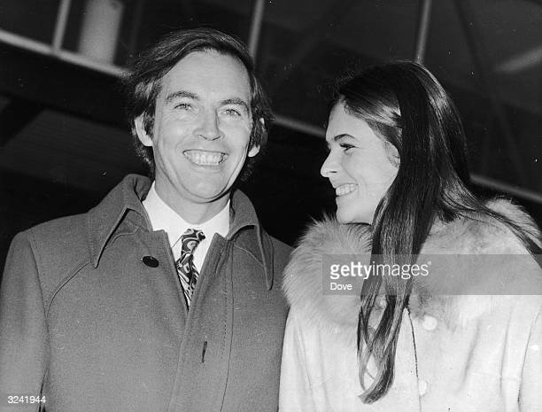 Dr Christiaan Barnard South African pioneer of the heart transplant arrives in London with his wife South African heiress Barbara Zoellner