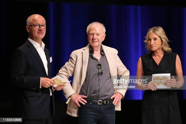 Dr Christian Frankenstein Director Wolfgang Petersen and Iris Ostermaier during the Bavaria Film Reception One Hundred Years in Motion on the...