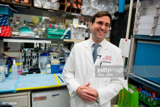 Dr Christian Hinrichs an investigator at the National Cancer Institute speaks about his research in immunotherapy for HPV cancers in his lab at the...