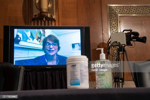 Dr. Christina Paxson, President, Brown University, virtually testifies before the Senate Health, Education, Labor, and Pensions during a hearing on a...