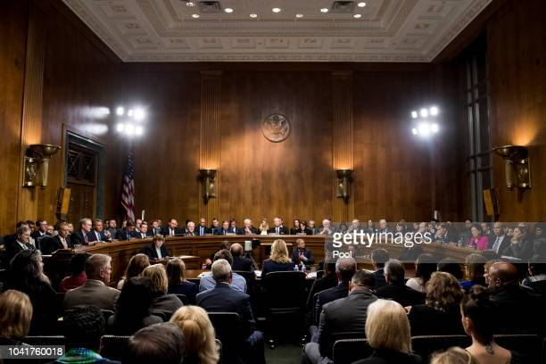 Dr Christine Blasey Ford testifies during the Senate Judiciary Committee hearing on the nomination of Brett M Kavanaugh to be an associate justice of...