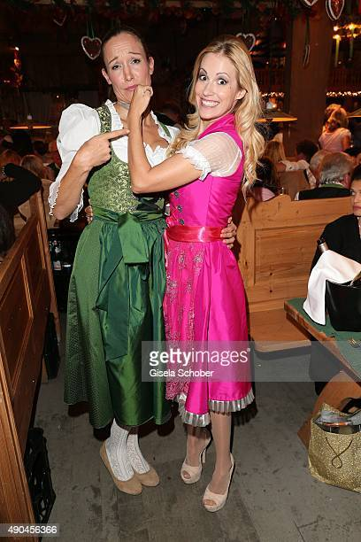 Dr Christine Theiss and Andrea Kaiser during the 'Sauerland Stammtisch' at Oktoberfest 2015 at Weinzelt /Theresienwiese on September 28 2015 in...